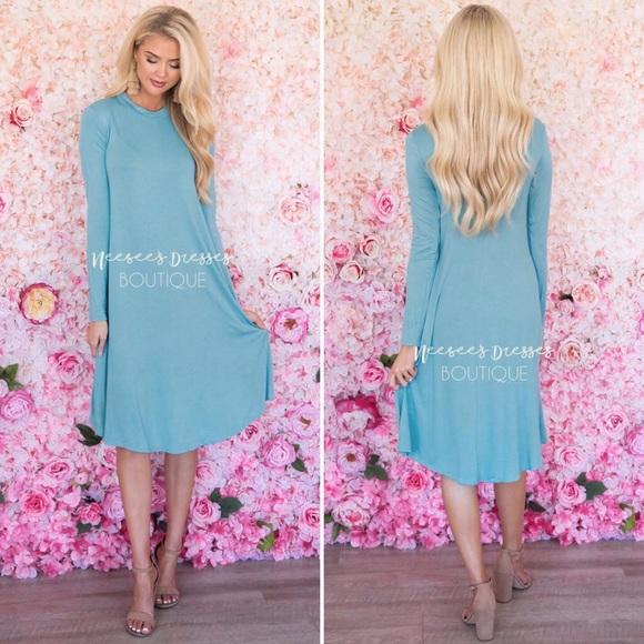 Neesee's Dresses Dresses & Skirts - •NEESEE'S DRESSES• NWT Long Sleeves w/ Pockets